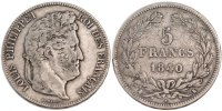 Semi Moderns (1805-1899) 5 Francs 1840 Bordeaux ss French Moderns Frankr... 90,00 EUR