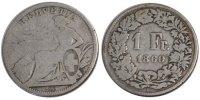 Franc 1860 B Schweiz  F(12-15)  120,00 EUR  zzgl. 10,00 EUR Versand