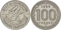 100 Francs 1966 (a) Cameroon  MS(63)  84.29 US$ 75,00 EUR  +  11.24 US$ shipping