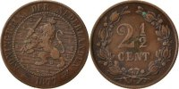 Netherlands 2 1/2 Cent Foreign Coins Münzen Pays-Bas, Willem III, 2 1/2 Cent 1877