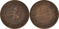 Netherlands 2 1/2 Cent Foreign Coins Münzen Pays-Bas, Willem III, 2 1/2 Cent 1880