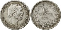 Netherlands 10 Cents Foreign Coins Münzen Pays-Bas, Willem III, 10 Cents 1889