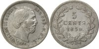 Netherlands 5 Cents Foreign Coins Münzen Pays-Bas, Willem III, 5 Cents 1859