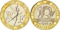 10 Francs 1994 France Génie MS(65-70)  90,00 EUR  +  10,00 EUR shipping