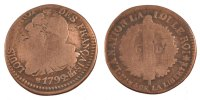 6 Deniers 1792 BB France 6 deniers français F(12-15)  80,00 EUR  excl. 10,00 EUR verzending