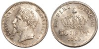 50 Centimes 1864 BB France Napoléon III Napoleon III MS(60-62)  213.52 US$ 190,00 EUR  +  11.24 US$ shipping