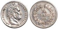 1/4 Franc 1843 A France Louis-Philippe AU(55-58)  155.53 US$ 140,00 EUR  +  11.11 US$ shipping