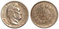 1/4 Franc 1837 W France Louis-Philippe AU(55-58)  200,00 EUR free shipping