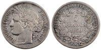 5 Francs 1850 K France Cérès VF(30-35)  250,00 EUR Gratis verzending