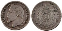 Semi Moderns (1805-1899) 1 Franc 1867 Strasbourg s French Moderns Frankr... 70,00 EUR
