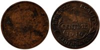 Moderns (1900-1958) 1 Centime 1910 ss+ French Moderns Frankreich French ... 90,00 EUR