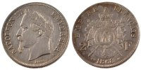 2 Francs 1868 A France Napoléon III Napoleon III AU(50-53)  120,00 EUR  +  10,00 EUR shipping