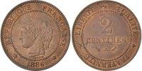 2 Centimes 1886 A France Cérès MS(60-62)  60,00 EUR  +  10,00 EUR shipping