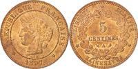 5 Centimes 1897 A Frankreich Cérès MS(60-62)  65,00 EUR  zzgl. 10,00 EUR Versand