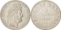 5 Francs 1846 W France Louis-Philippe VF(20-25)  63,00 EUR  Excl. 10,00 EUR Verzending