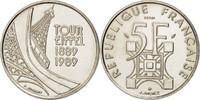 5 Francs 1989  Frankreich  MS(60-62)  126.33 US$ 120,00 EUR  +  10.53 US$ shipping
