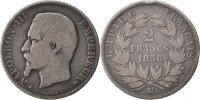 Semi Moderns (1805-1899) 2 Francs French Moderns Frankreich Second Empire, 2 Francs Napoléon III tête nue, 1856 BB Strasbourg