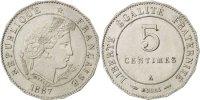 5 Centimes 1887 Paris France  MS(63)  320,00 EUR free shipping