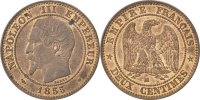 2 Centimes 1855 MA France Napoléon III Napoleon III AU(55-58)  180,00 EUR free shipping