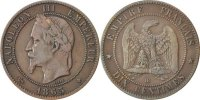 10 Centimes 1863 BB France Napoléon III Napoleon III EF(40-45)  4487 руб 60,00 EUR  +  748 руб shipping