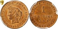 Centime 1892 A France Cérès MS(64)  80,00 EUR  + 6,00 EUR frais d'envoi