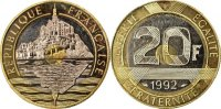 20 Francs 1992 France  MS(63)  160,00 EUR free shipping