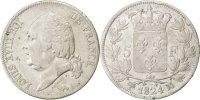 5 Francs 1824 A Frankreich Louis XVIII Louis XVIII VF(30-35)  130,00 EUR
