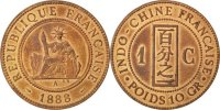 Cent 1888 A French Indochina  AU(55-58)  89.90 US$ 80,00 EUR  +  11.24 US$ shipping