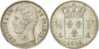 1/4 Franc 1829 A France Charles X MS(60-62)  230,00 EUR free shipping