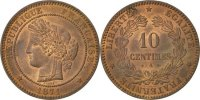 10 Centimes 1871 A France Cérès MS(63)  250,00 EUR free shipping