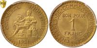 Franc 1921 Paris Frankreich Chambre de commerce MS(65-70)  90,00 EUR  + 6,00 EUR frais d'envoi
