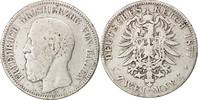 2 Mark 1877 G Deutsch Staaten BADEN, Friedrich I, Stuttgart, KM:265 S  35,00 EUR  zzgl. 10,00 EUR Versand