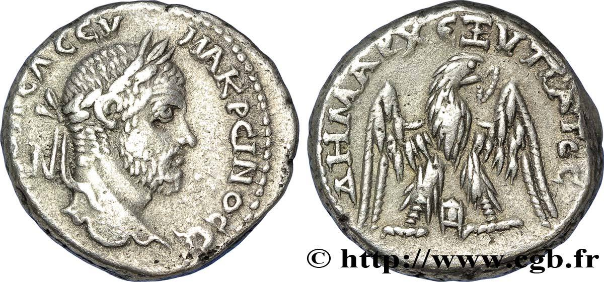 THE SEVERANS (193 AD to 235 AD) MACRINUS 217-218 (24mm, 14,64g, 6h ) Ttradrachme syro-phnicien 217-218 aEF 