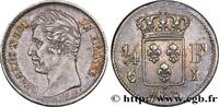 1/4 franc Charles X 1829  CHARLES X 1829 (15mm, 1,25g, 6h ) SS  330,00 EUR  +  10,00 EUR shipping
