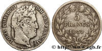 5 francs IIe type Domard 1839  LOUIS-PHILIPPE I 1839 (37mm, 24,75g, 6h ... 421.97 US$ 380,00 EUR