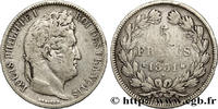 5 francs Ier type Domard, tranche en creux 1831  LOUIS-PHILIPPE I 1831 ... 210.98 US$ 190,00 EUR