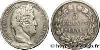 5 francs Ier type Domard, tranche en creux 1831  LOUIS-PHILIPPE I 1831 ... 355.34 US$ 320,00 EUR