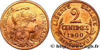 2 centimes Daniel-Dupuis 1900  III REPUBLIC 1900 (20,13mm, 2,03g, 6h ) VZ  477.49 US$ 430,00 EUR