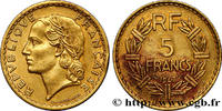 5 francs Lavrillier, bronze-aluminium 1947  PROVISORY GOVERNEMENT OF TH... 850,00 EUR
