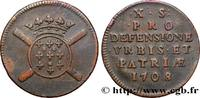 Dix sols, monnaie obsidionale 1708  FLANDRE - SIÈGE DE LILLE 1708 (24mm... 150,00 EUR  +  10,00 EUR shipping