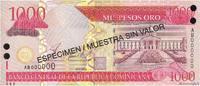 1000 Pesos Oro 2002 RÉPUBLIQUE DOMINICAINE RÉPUBLIQUE DOMINICAINE 1000 ... 25,00 EUR  + 10,00 EUR frais d'envoi