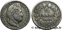 1/2 franc Louis-Philippe 1840  LOUIS-PHILIPPE I 1840 (18mm, 2,38g, 6h ) S  381.58 US$ 350,00 EUR  +  10.90 US$ shipping