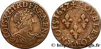 Double tournois, type 9 1637  LOUIS XIII 1637 (20,5mm, 2,28g, 6h ) fSS  105.27 US$ 100,00 EUR  +  10.53 US$ shipping