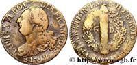 6 deniers dit 'au faisceau', type FRANÇOIS 1792  LOUIS XVI 1792 (24,5mm... 280,00 EUR  +  10,00 EUR shipping