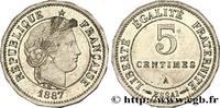 Essai de 5 centimes Merley, 16 pans 1887  III REPUBLIC 1887 (19,27mm, 2... 180,00 EUR  +  10,00 EUR shipping