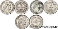 Lot de deux pièces de 1/4 franc et d'une pièce de  n.d.  LOUIS-PHILIPPE... 250,00 EUR  +  10,00 EUR shipping