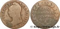 Cinq centimes Dupré, grand module 1799  DIRECTOIRE 1799 (27,80mm, 10,40... 110,00 EUR  +  10,00 EUR shipping