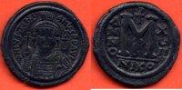 527-565  n. Chr. ANTIQUE JUSTINIEN I 527-565 NEVEU DE JUSTIN I FOLLIS ... 190,00 EUR  zzgl. 10,00 EUR Versand
