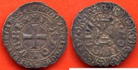 CHARLES V  CHARLES V 1364-1380 GROS TOURNOIS 1ere EMISSION A/ KAROLVS REX CROIX LEGENDE EXTERIEURE BNDICTV ECT R/ TVRONVS CIVIS CHATEL TOUR