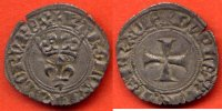 CHARLES VI  CHARLES VI 1380-1422 DOUBLE TOURNOIS DIT NIQUETA/ KAROLVS FRACORV REX LIS COURONNE R/ DVPLEX TVRNS FRACIE CROIX 11 AOUT 1421 P